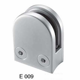 Stainless Rounded Glass Clamp for 1.66 inch diameter Newel