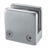 """Stainless Square Glass Clamp for Flat Surface -1/2"""" Glass"""