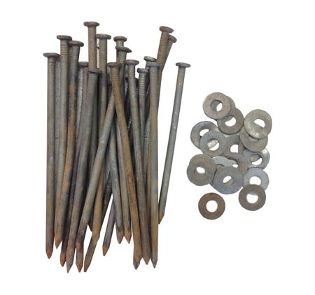 "10"" Nails & 1/2"" Washers (20 pack used)"