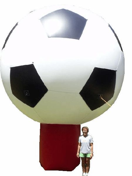 20' Inflatable Soccer Ball with blower