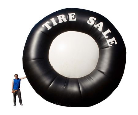 20' Inflatable Tire - Used