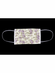 100% Cotton Lilac Floral Reusable Masks for Adults