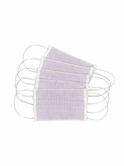 100% Cotton Lilac Reusable Masks for Adults w/ Filter Pocket