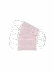100% Cotton Pink Reusable Masks for Adults w/ Filter Pocket