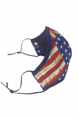 Flag 2-Ply 100% Cotton Face Shaped Mask