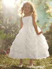 CLEARANCE - Alfred Angelo Ariel Inspired White Taffeta Dress