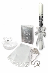 Angels Garment SB42 Neutral Baptism Candle Set