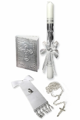 Angels Garment SFC32 Boys First Communion Candle Set
