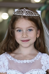 Angels Garment VL-9208 Rhinestone Cross Tiara Veil