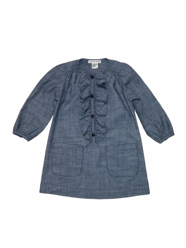 Anthem of the Ants Ruffle Front Indigo Chambray Calliope Dress