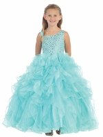 Aqua Jewels & Gents Pageant Dress