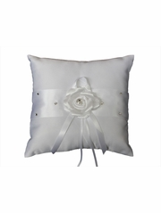 B.B World GRS117 Rose Satin Ring Pillow w/ Rhinestones