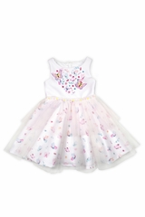 Biscotti DCSM708 Butterfly Scuba & Tulle Dress