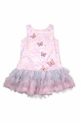 Biscotti DCSV703 Pink Butterfly Drop Waist Dress