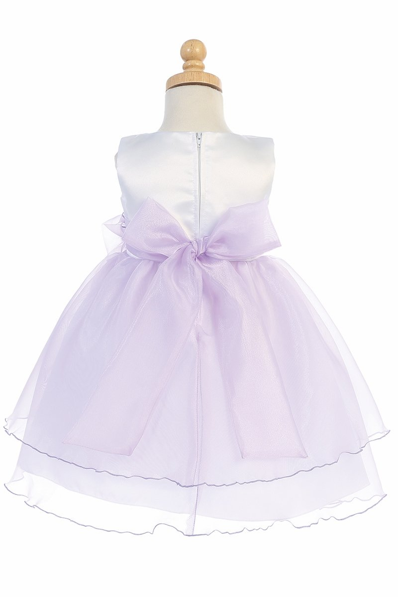 9a347de22b9 Home   Girl s Dresses   Flower Girl Dresses   Blossom BL244 Ivory Satin  Bodice w  Crystal Organza Skirt. Click to Enlarge Click to Enlarge