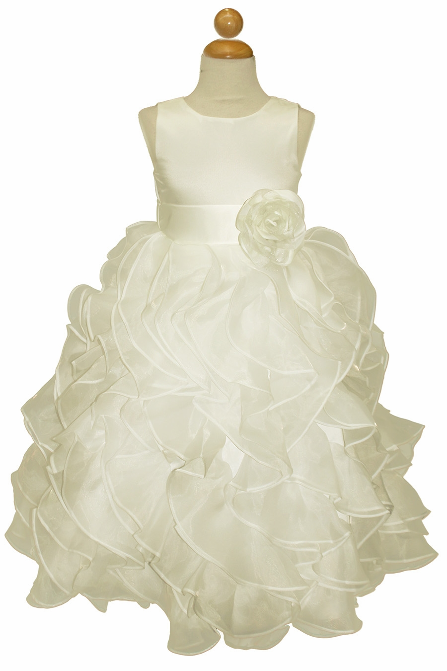 3cd2c8dd506 ... Layered Flower Girl Dress w  Satin Flower Sash. Click to Enlarge Click  to Enlarge ...