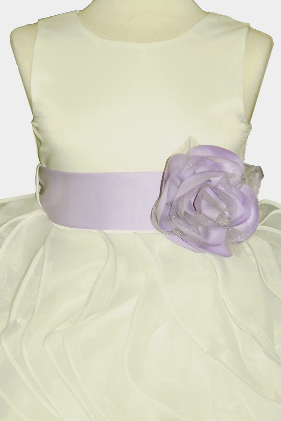 9abe4b371d3 ... Layered Flower Girl Dress w  Satin Flower Sash. Click to Enlarge Click  to Enlarge Click to Enlarge ...