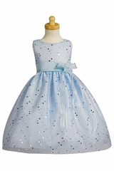 Blue Sparkling Tulle Dress