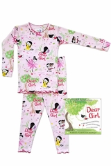 Book To Bed Dear Girl Pink Pajama Set