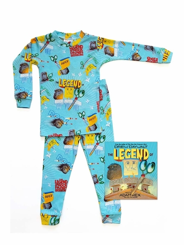 Book To Bed The Legend of Rock Paper Scissors Pajama Set