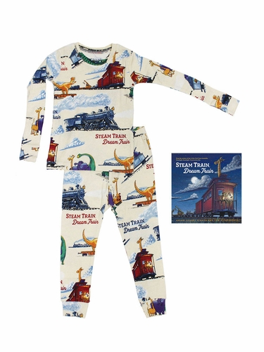 Books To Bed 117I Steam Train Dream Train Pajama Set