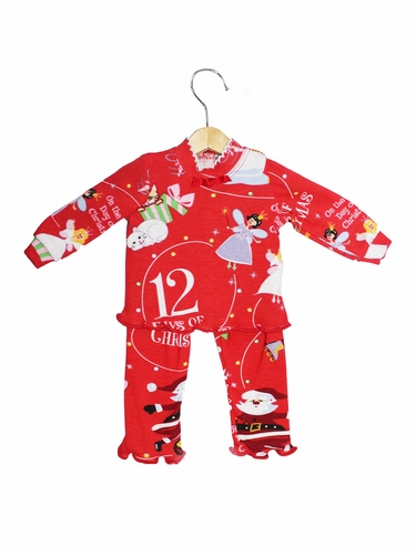 Books To Bed 12 Days Of Christmas 18''� Doll Matching Pajamas