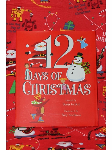 Books To Bed 12 Days Of Christmas Boys Blanket & Book Set