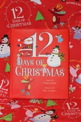 Books To Bed 12 Days of Christmas Girls Blanket & Book Set