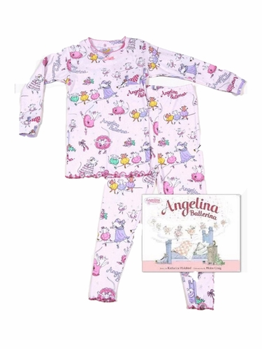 Books To Bed Angelina Ballerina Pajama Set