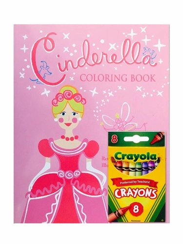 Books To Bed Cinderella Coloring Book
