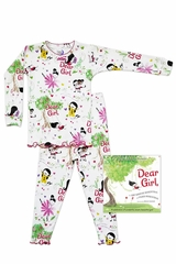 Books To Bed Dear Girl White Pajama Set