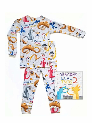 Books To Bed Dragon Loves Tacos 2 Pajama Set