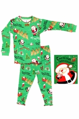 Books To Bed Green T'Was The Night Before Christmas Pajama Set