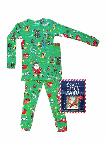 Books To Bed How To Catch Santa Pajama Set