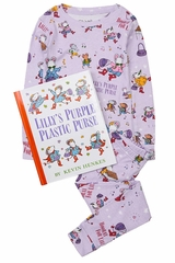 Books to Bed Lilly's Purple Plastic Purse Pajama Set