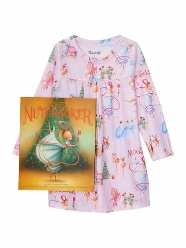 Books to Bed Nutcracker Nightgown Pajama Set