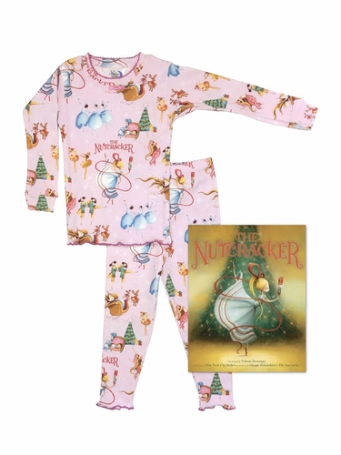 Books To Bed Pink Nutcracker Pajama Set