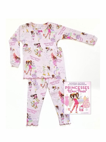 Books To Bed Princess Wear Pants Pajama Set