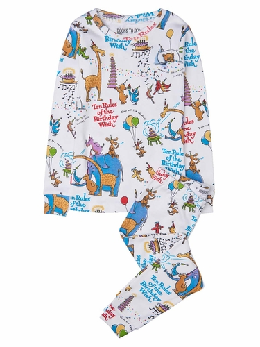 Books to Bed Ten Rules Of The Birthday Wish Pajama Set