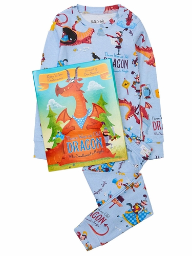 Books to Bed There Was An Old Dragon Who Swallowed A Knight Pajama Set