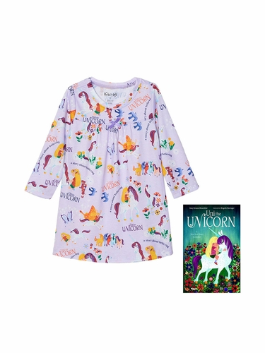 Books To Bed Uni The Unicorn Nightgown Set