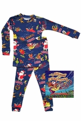 Books To Bed 12 Sleighs of Christmas Pajama Set