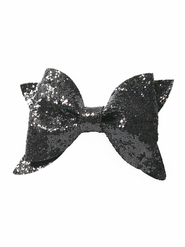 Bows Arts Black Glitter Bow