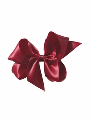 "Bows Arts Burgundy 5"" Sweetheart Satin Clip"