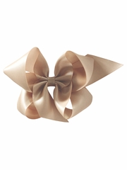 "Bows Arts Champagne 5"" Sweetheart Satin Clip"