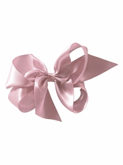 "Bows Arts Dusty Rose 5""� Sweetheart Satin Clip"