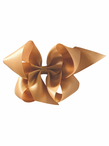 Bows Arts Gold 5''� Sweetheart Satin Clip