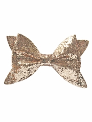 Bows Arts Gold Glitter Bow
