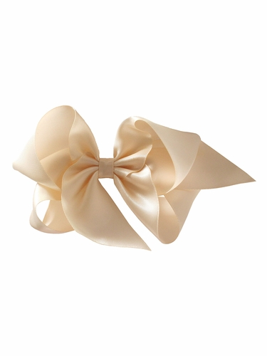 Bows Arts Ivory 5''� Sweetheart Satin Clip