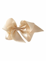 "Bows Arts Ivory 5"" Sweetheart Satin Clip"